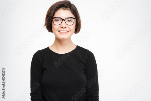 Fototapety, obrazy: Happy woman in glasses looking at camera
