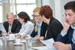 Business Team hat Erfolg im Meeting