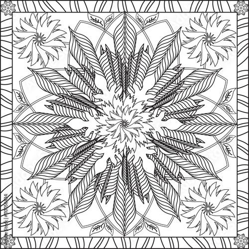 Coloriage Adulte Spirale.Page Coloriage Pour Adultes Livre Design Motif Fleur Geometrie
