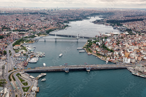 Aerial view of Istanbul. Old city. Poster