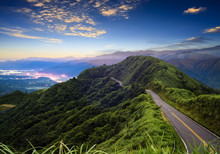 Imageing Of Beautiful Landscapes With Green Road And Nice Backgr