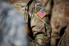 USA Flag And US Army Patch On ...
