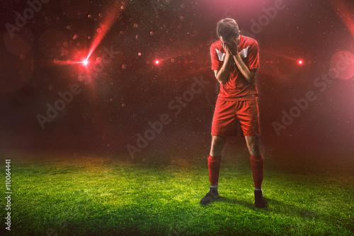 Fotografía  Trauriger Sportler nach Niederlage
