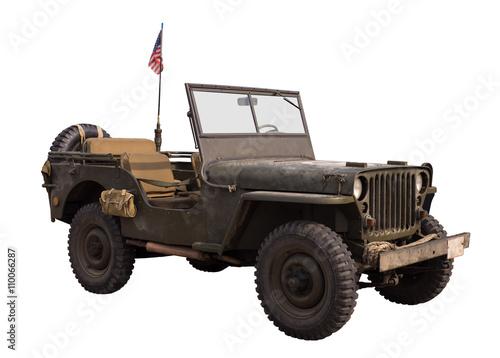 Poster  alter militär geländewagen von 1939-45