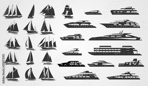 Fotografia  Sailing and motor yachts
