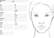 Face Chart Makeup Artist Blank...