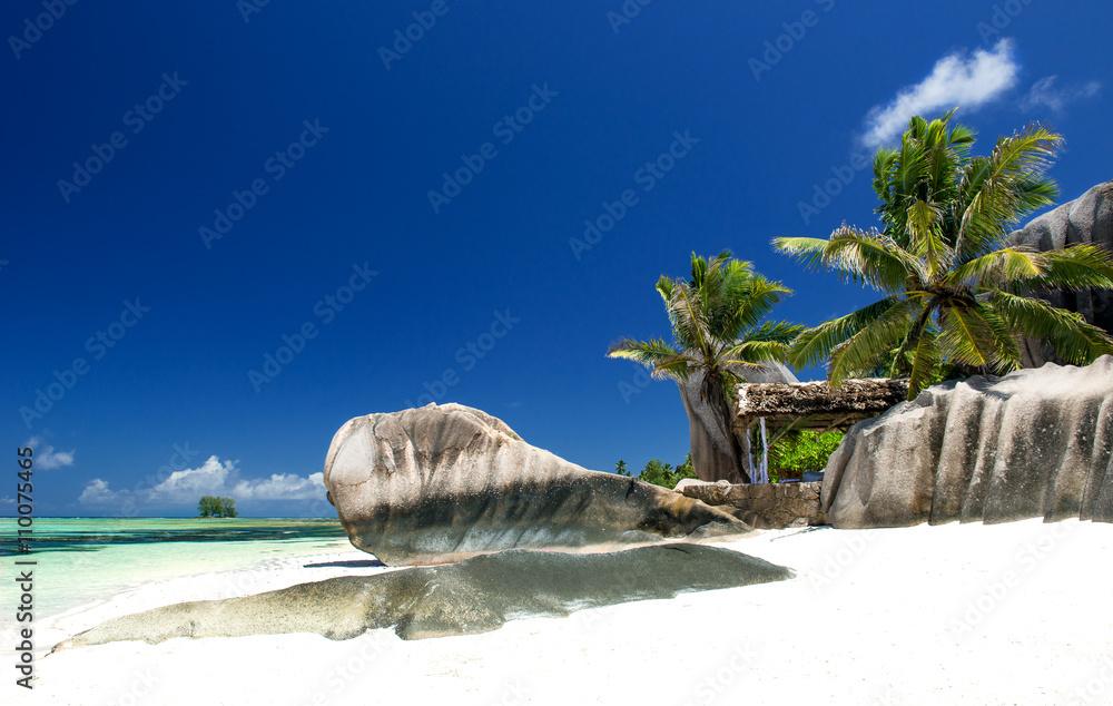 Poster  Strand auf den Seychellen