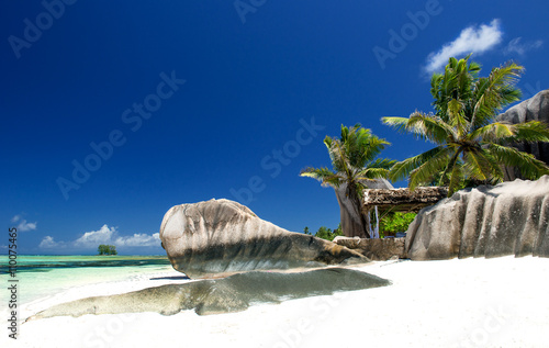 Strand auf den Seychellen Plakat