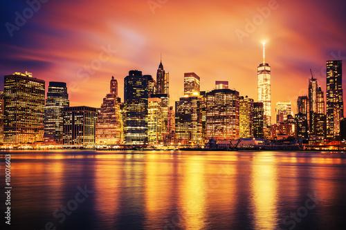 Keuken foto achterwand New York New York City Manhattan midtown at sunset