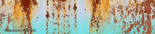 Poster de jardin Metal header panorama website old metal dirty rusty