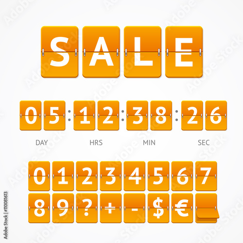 Fotografía  Counter Seasonal Sale Concept. Vector
