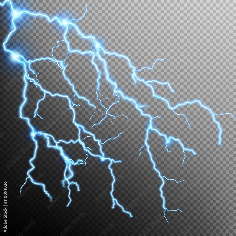 Fototapety, obrazy: Electric Storm - lightning bolt. EPS 10