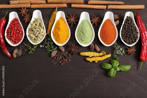 plakat Spices and herbs.