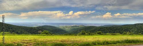 Photo Beautiful panorama of Fruska gora