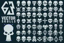 Skull Vector Shapes Collection