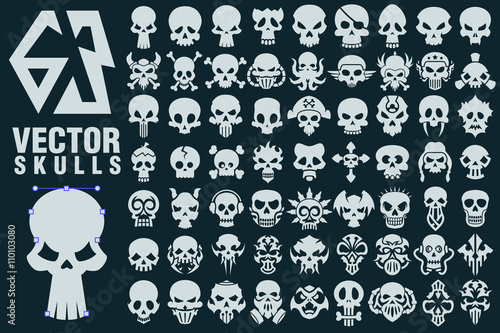 Photo Skull Vector Shapes Collection
