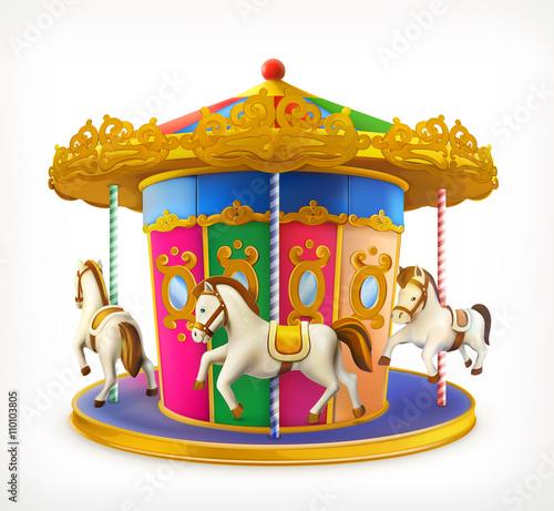 Fotografie, Obraz  Carousel, vector icon