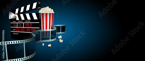 Tablou Canvas ciack, cinema, film, fotogrammi, rullino