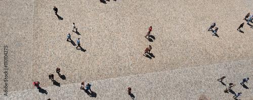 Fotografie, Obraz  öffentlicher Platz von oben