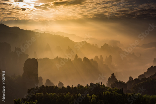 Avatar mountains of Zhangjiajie - China Wallpaper Mural
