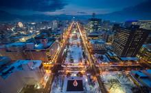 Cityscape Of Sapporo At Odori ...