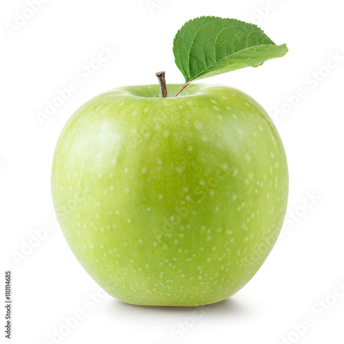 Leinwand Poster granny smith apples isolated on white background