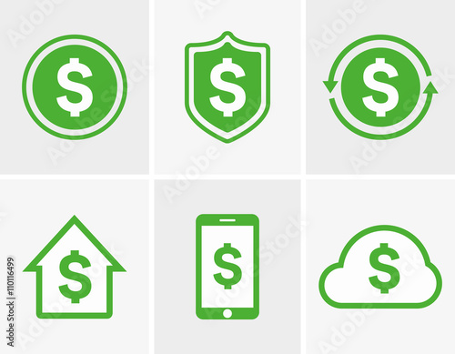 Fotografia, Obraz  Vector dollar logo