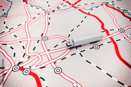 Fotografía  3D rendering of transport map