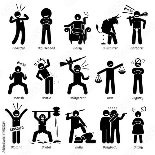 Negative Personalities Character Traits Canvas-taulu