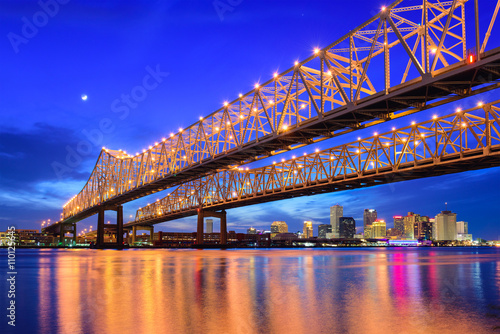 Canvas Prints Dark blue New Orleans Skyline