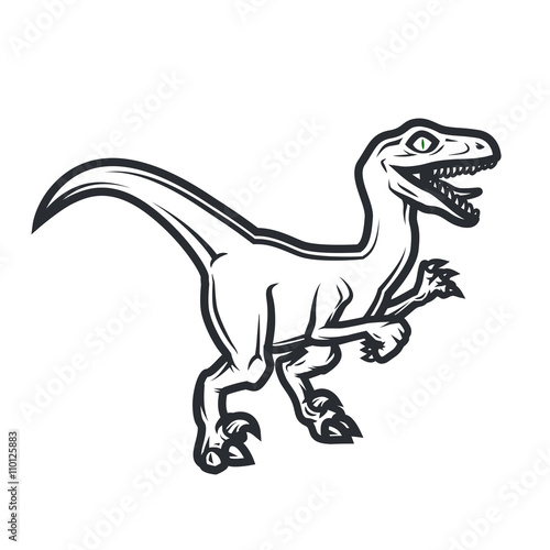 Obraz na plátně  Prehistorical dino Logo concept