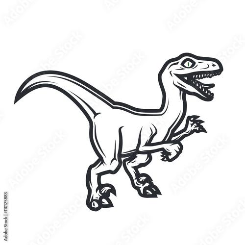 Fotografie, Tablou  Prehistorical dino Logo concept