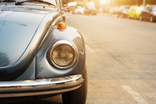 Headlight Lamp Vintage Car - Retro Filter Effect Color