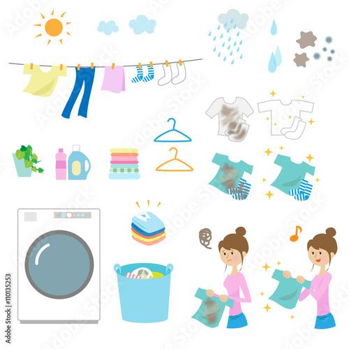 Fotografía  洗濯 セット laundry elements