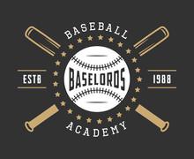 Vintage Baseball Logo, Emblem, Badge And Design Elements.