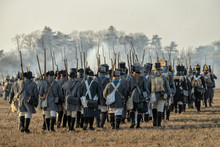 Re-enactors Uniformed As Soldi...
