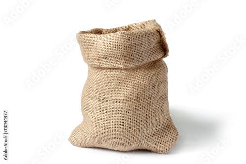 Fotografia sack isolated on white background