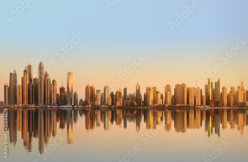 Fototapeta Panorama piękna Dubaj marina. ZEA