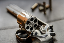 .357 Caliber Revolver Pistol, Revolver Open Ready To Put Bullets