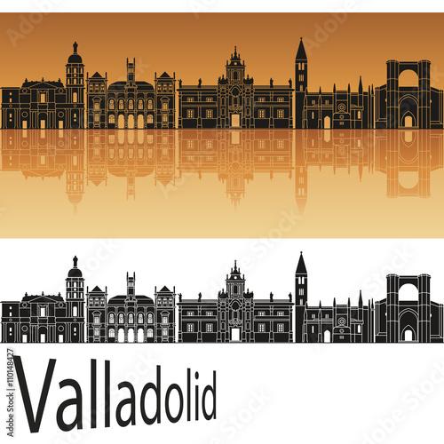 Valladolid skyline in orange