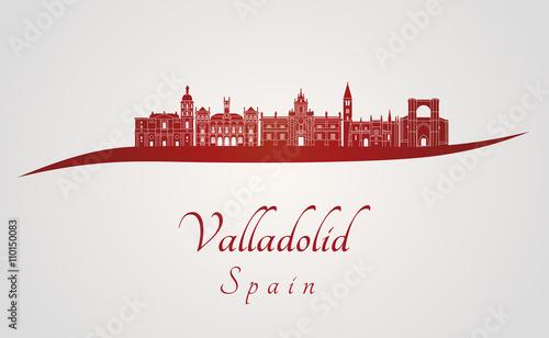Valladolid skyline in red