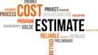 word cloud - cost estimate