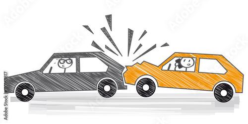 Autounfall - Handy am Steuer