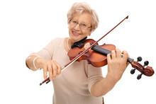 Mature Woman Playing Violin
