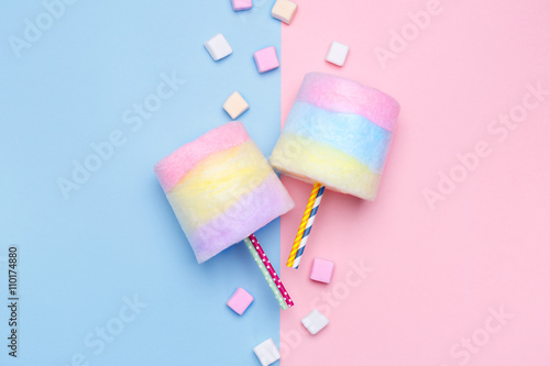 Fotografie, Obraz  Vícebarevný Cukrová vata