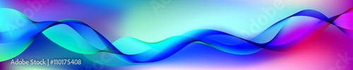 Fotobehang Fractal waves beautiful abstract wave. Baner