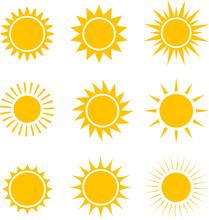Sun Icons Collection. Illustra...
