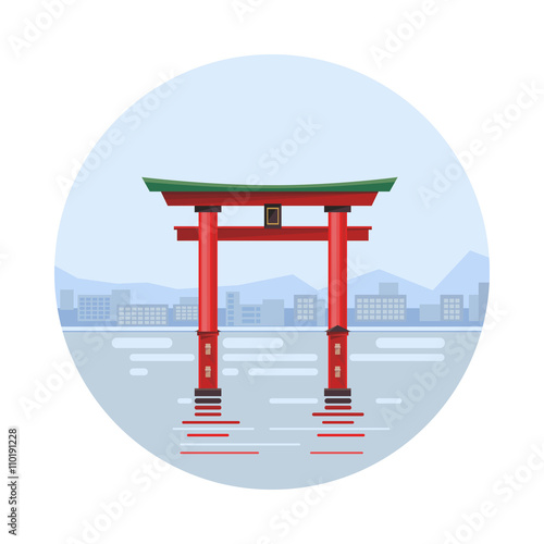 Japan at the floating gate icon