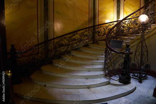 A spiral staircase in the house of the Eliseev brothers