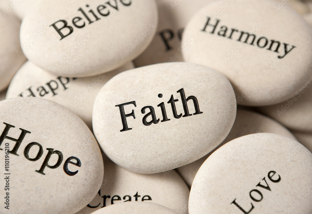 Fototapeta Inspirational stones - Faith